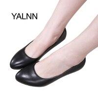 Yalnn mujer Zapatos 3 cm negro mujeres maduras Tacones altos zapatos bomba nuevo Zapatos Oficina señora moda vestido Bombas