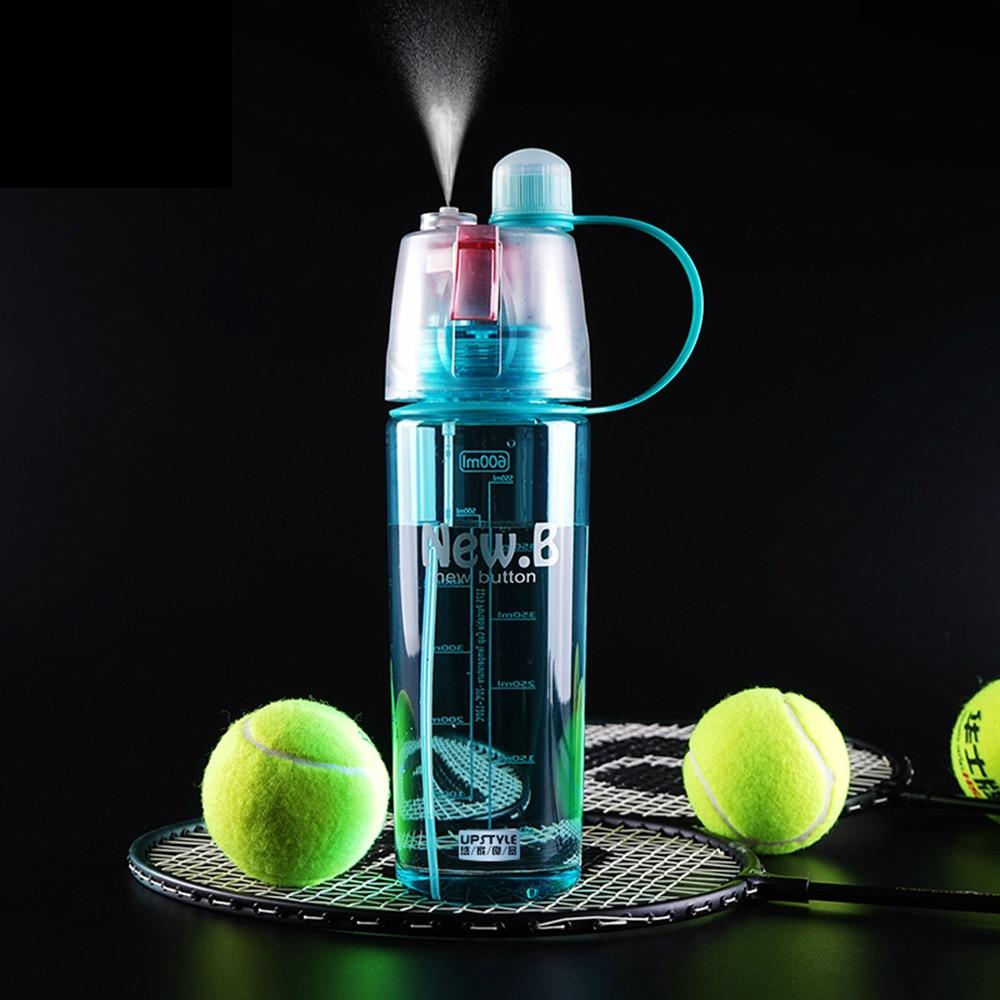 600 ملليلتر البلاستيك الرياضة زجاجة رذاذ الماء القش لفي الهواء الطلق دراجة المحمولة غلاية شاكر رياضة شرب زجاجات gourde أون بلاستيك