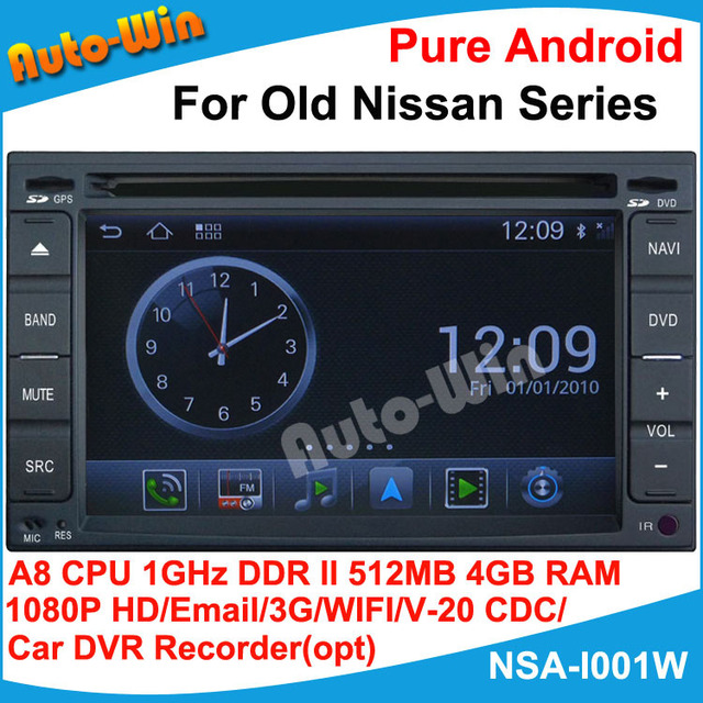 1080P HD Pure Android DVD GPS for Old Nissan Series A8 chip1G CPU 512 DDR DSP sound-effects 7 parts digital EQ