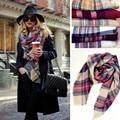 Зимний шарф 2017 кашемира женщин бренд плед pashimina шарфы и палантины площади 140*140 см шарфы модные платки обертывания