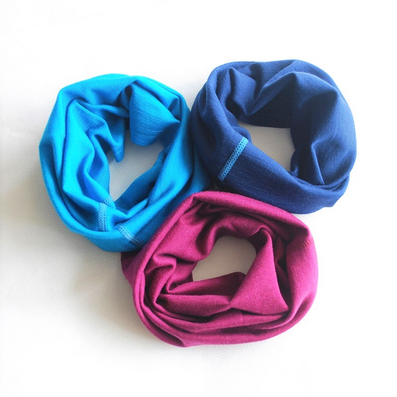 100% 100%Merino Wool Thermal Kids Adult Tube Scarf Headbands Boys Girls Ring Neckerchief Collar Muffler