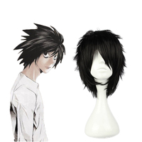 Tokyo Anime Death Note L cosplay wig mens Lawliet black short hair wig costumes