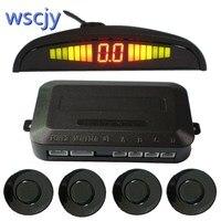 Automobile Small Crescent LED Parking Sensor Kit 4 Sensor 22MM Backlight Display Reverse Radar Vehicle Safety