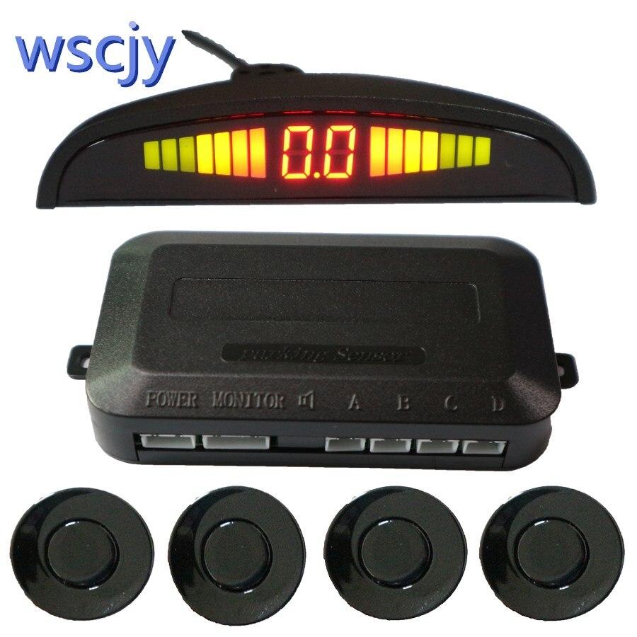 Automobil kleine crescent LED Parkplatz Sensor Kit 4 Sensor 22 MM Hintergrundbeleuchtung Display rückradar fahrzeug sicherheit system