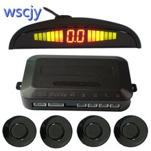 Automobile small crescent LED Parking Sensor  Kit 4 Sensor 22MM Backlight Display reverse radar vehicle safety system