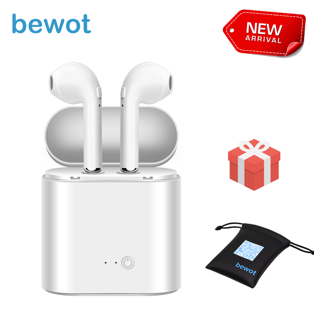 TWS i7S Bluetooth Earphone Sport Wireless Headset Headphones Phone Mini Earphones for iPhone Oppo Xiaomi SONY with Gift