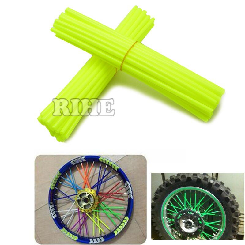Universal Moto Dirt Bike Enduro off Road Wheel RIM Spoke Shrouds SKins covers For YZ YZF WR 85 125 250 450 Pit MX