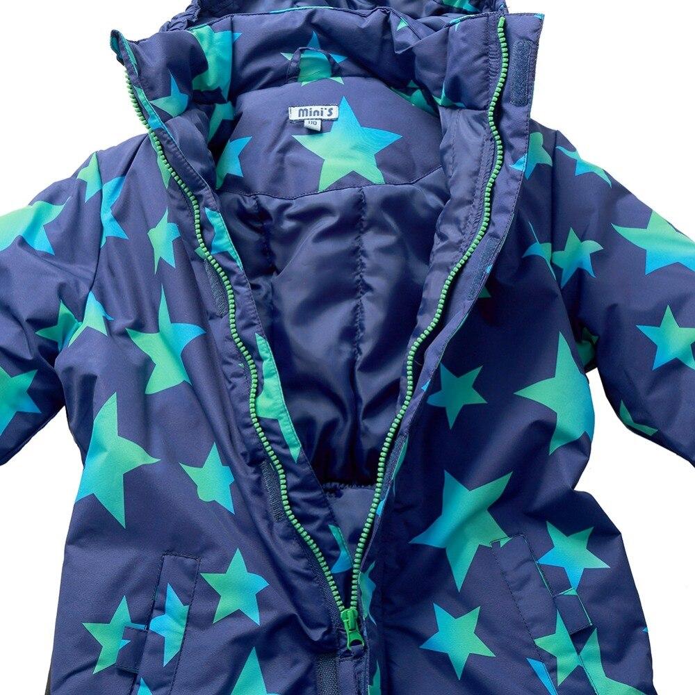 Moomin 2019 New arrival winter warm waterproof winter overall Polyester boys winter jumpsuit long sleeve Zipper Fly hooded set