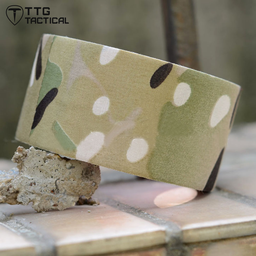 TTGTACTICAL 10M Military US Army Tactical Camouflage Tape CP Multicam Rifle Wrap Camo Cloth Tape Sniper Rifle Wrap CP Multicam