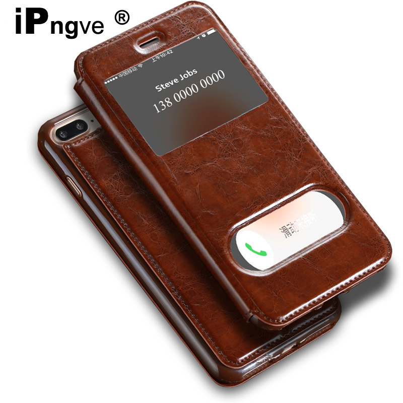 huge discount 49ac0 4a6f2 Ipngve 6 6S Case PU Leather Maganetic Flip Cover Iphone 6 6S Plus Stand  Phone Bag Fundas For Iphone 7 / 7 Plus 8 8 Plus