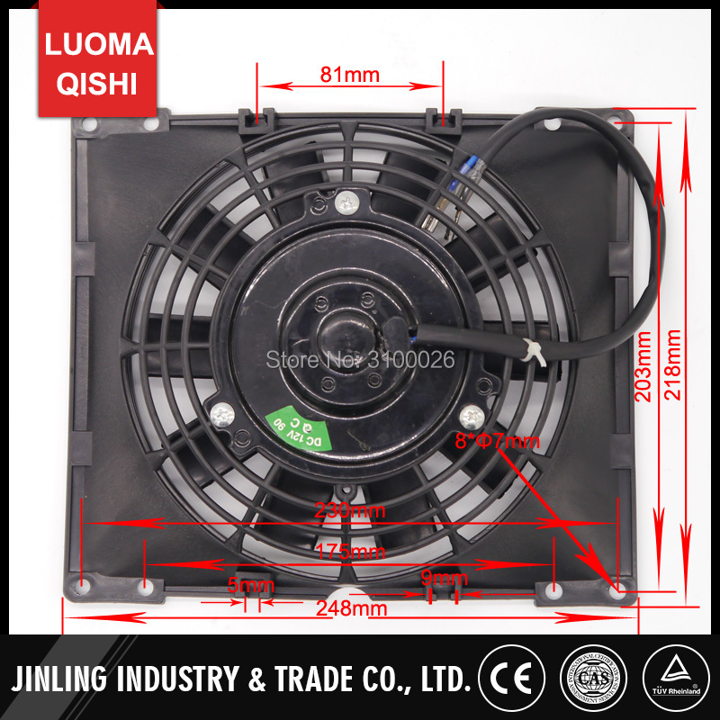 Ventilator für Roller Quad 12V 145 mm NEU!