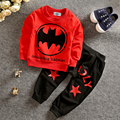 RT-194 Мультфильм детская одежда бэтмен дети толстовка + брюки 2 шт. высокое качество костюм случайные дети девушки парни одежда
