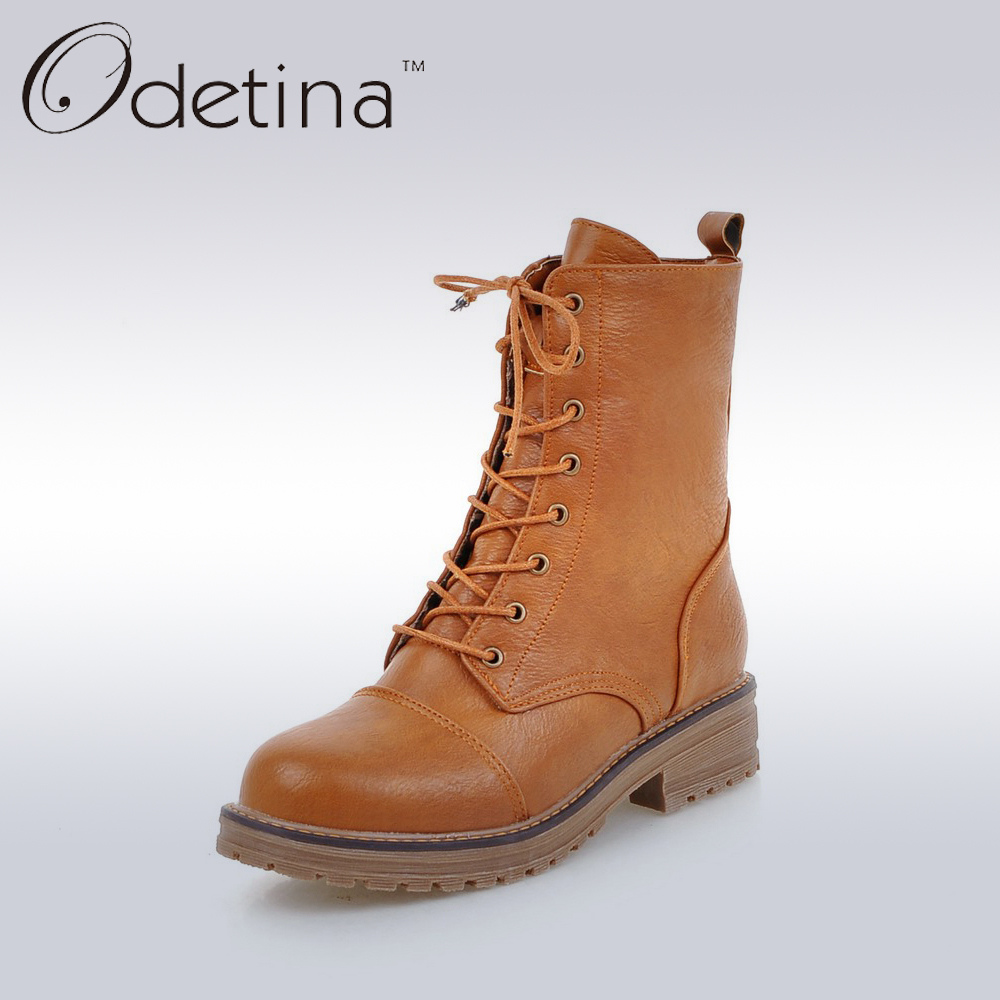 Brown Lace Up Ankle Boots Women