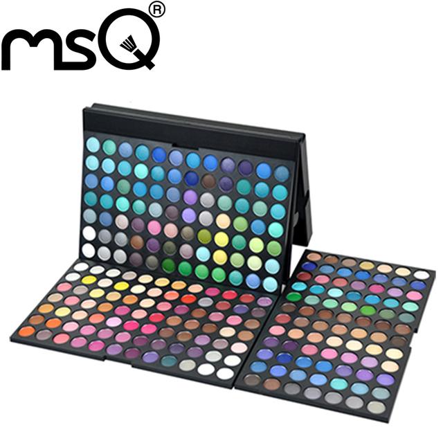 MSQ 252 cores make up palette. Mineral powder eye makeup palette cosméticos frete grátis