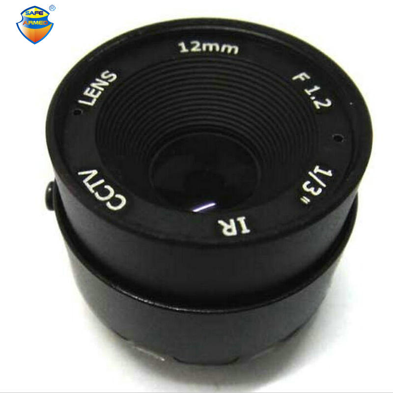 (1 PCS)12mm CS F1.2 Fixed IRIS CCTV Surveillance IR Lens for both 1/3 and 1/4 CCD Camera For Free Shipping free shipping 6 pcs 1 3 f1 6 cs fixed iris 16mm ir lens cctv camera professional lens