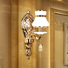 LED wall lamp, simplified European style corridor, aisle glass bedroom lamp wholesale