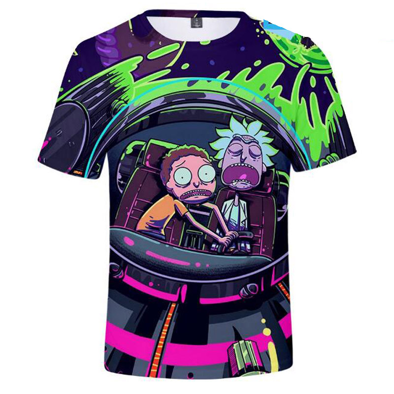 Camisetas Rick And Morty 3D Print Anime T-Shirts Peace Among Worlds Folk Tee Shirt Homme rick y morty Funny Clothing Streetwear