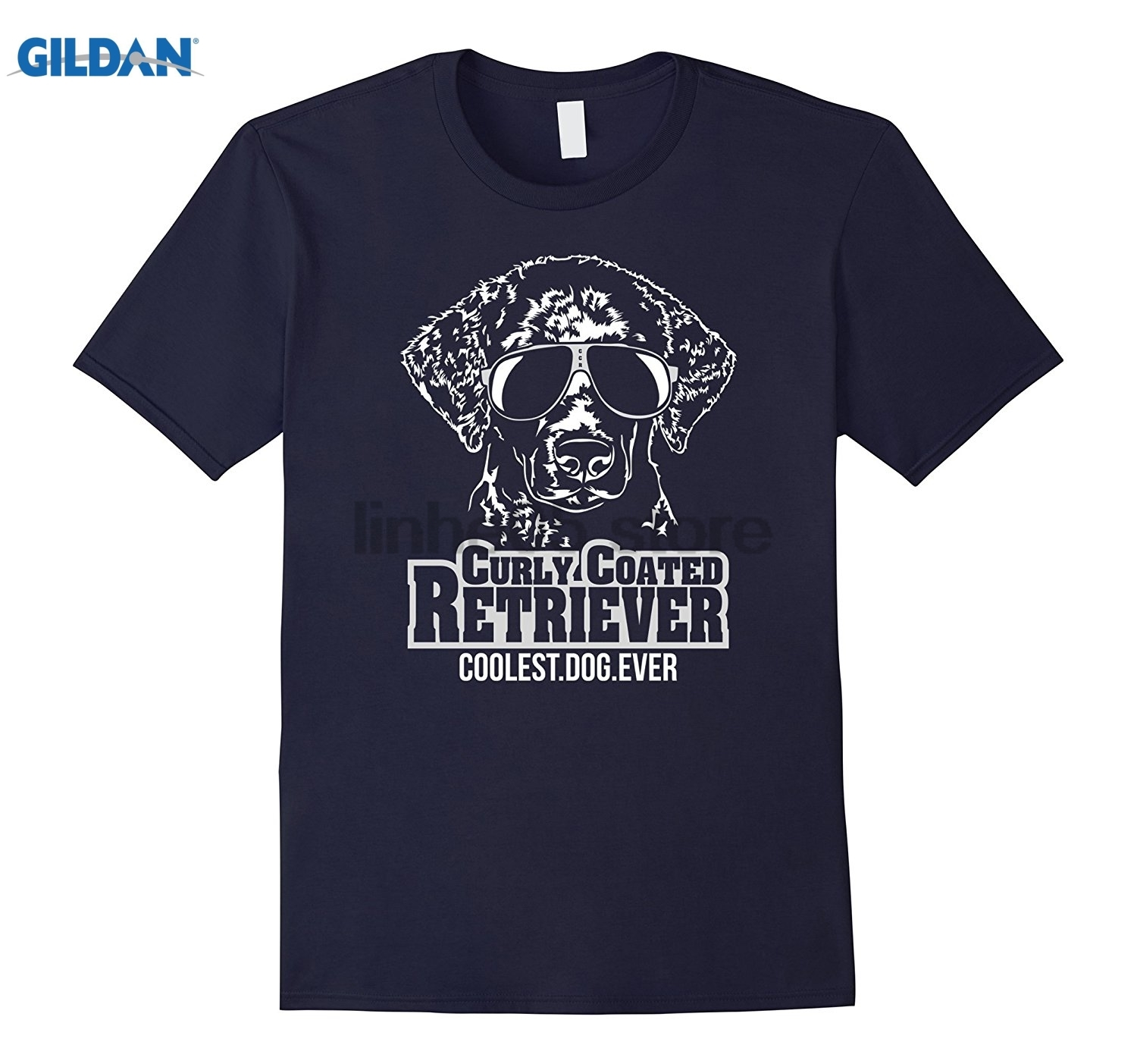 GILDAN CURLY COATED RETRIEVER cool Hund Hunde Shirt T-Shirt Dress female T-shirt