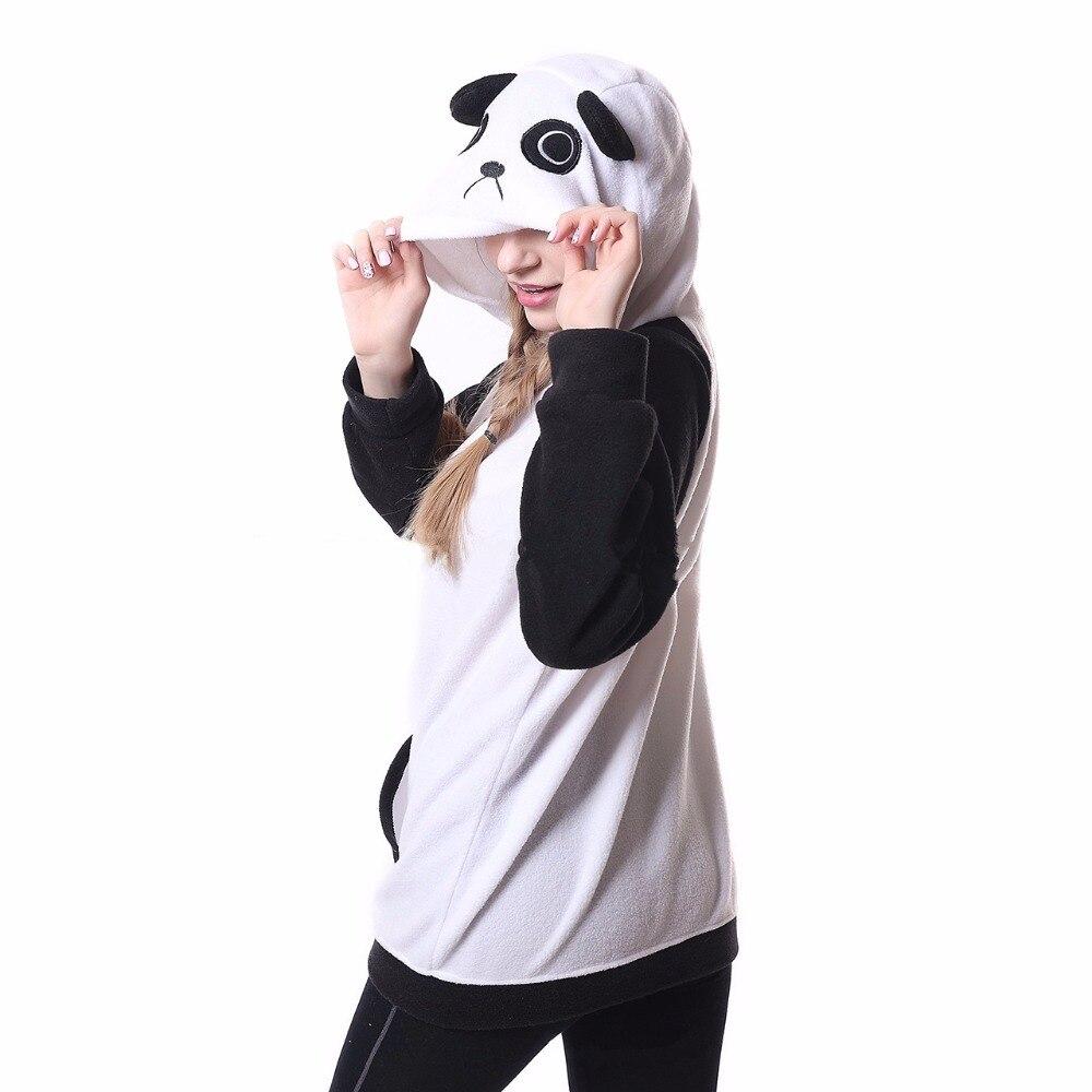 2017 New Hoodie Cartoon Panda Sweatshirts Animal cosplay Tracksuits With Ears Kiguruma Cute Warm Hooded Jacket