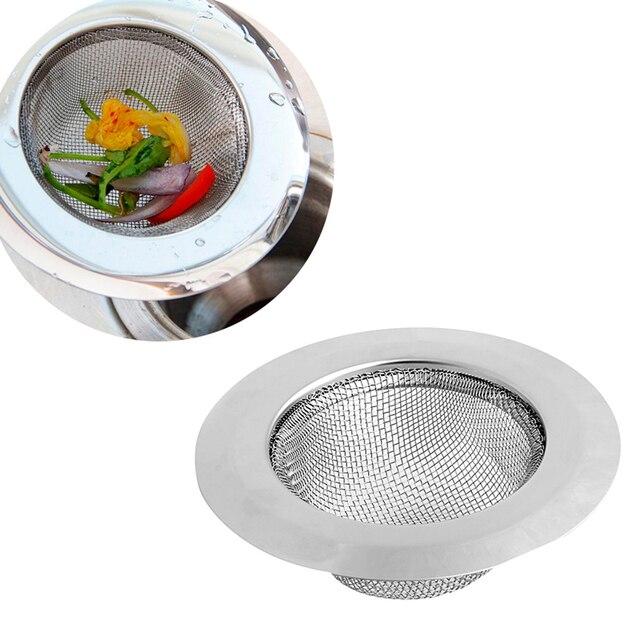 Convenient Bathroom Kitchen Sink Drain Strainer Stainless Steel Mesh Hole Filter Catcher