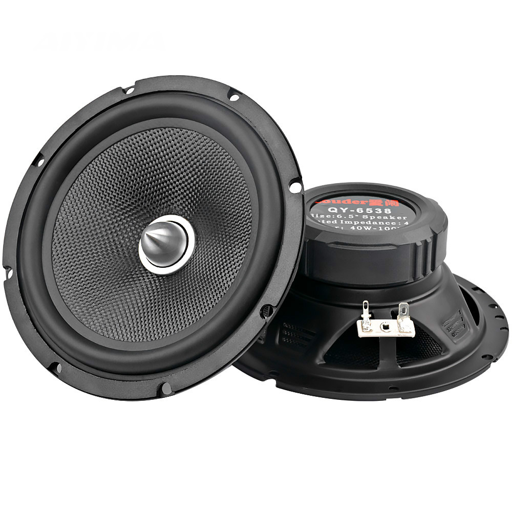 2Pcs 6.5Inch Portable Audio Car Speakers 4 Ohm 60W Full Range Music Speaker DIY HIFI Home Theater Sound System Surround Sound