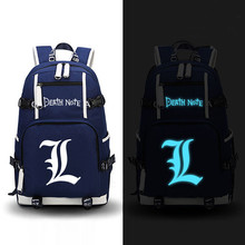 Anime Death Note Luminous Backpack Canvas School Fashion Backpacks
