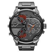 BAOLANDEMen Moda de Lujo Del Reloj del Deporte Para Hombre de Cuarzo Analógico Reloj de Pulsera de Acero Inoxidable 11 de Octubre