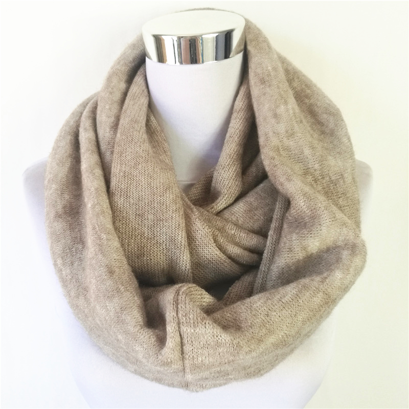 New Fashion Unisex Womens Winter Acrylic Circle scarves Cashmere Ladies Infinity Scarf Snood Scarves Wraps  Loop women scarf