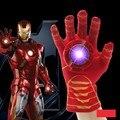 Косплей Мстители Игрушки Мультфильм Железный Человек Перчатки Излучатель Вспышки Звук Ironman Перчатки Фигурку Игрушки Для Детей Подарки На День Рождения