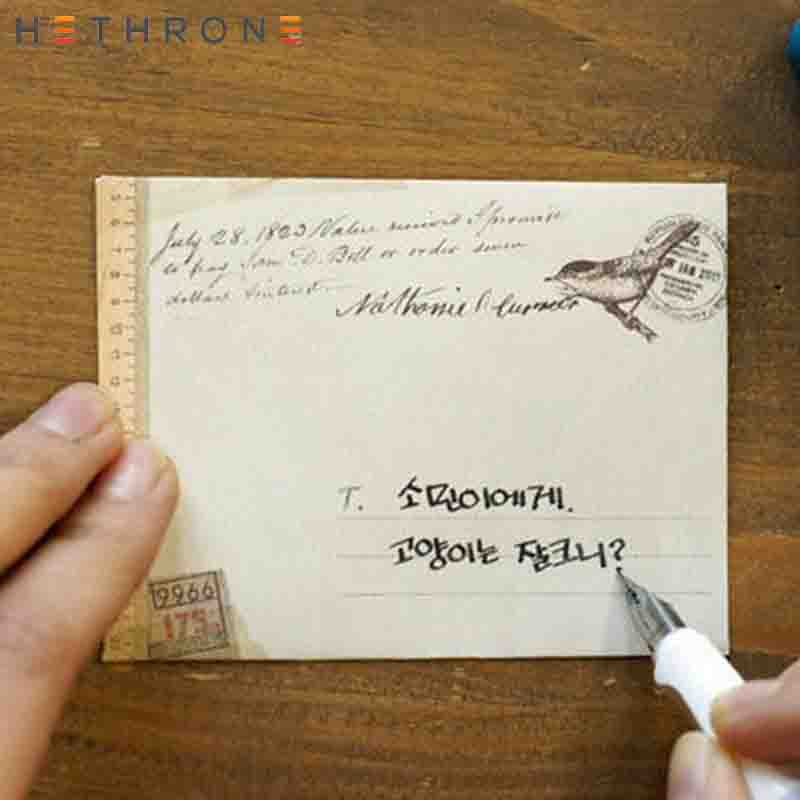 Hethrone 36pcs Classical Simulation Leather Craft Paper Envelopes Vintage Mini Paper Envelopes Invitation Envelope Gift Envelope