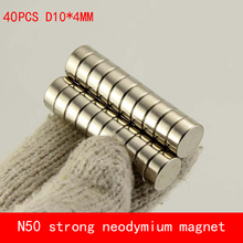 wholesale 40PCS D10*4mm round disc N50 Strong magnetic force rare earth Neodymium magnet diameter 10X4MM 50pcs pack dia 12 4mm hole 3mm strong neodymium magnet round n50