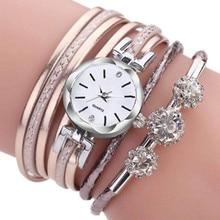 Casual Womens wristwatch Leather Deployment Bucket  shining diamond luxury ladies casual dress quartz Relogio Feminino