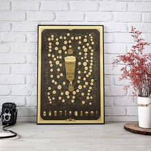 Vintage Style Poster Wall Sticker Beer Figure Decoration Kraft Paper Poster Bar Home Wall Decor 51.5X35.5cm