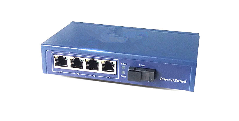 1 light 4 power POE fiber switch 4X10/100M poe port 1 fiber port poe switch single fiber ...
