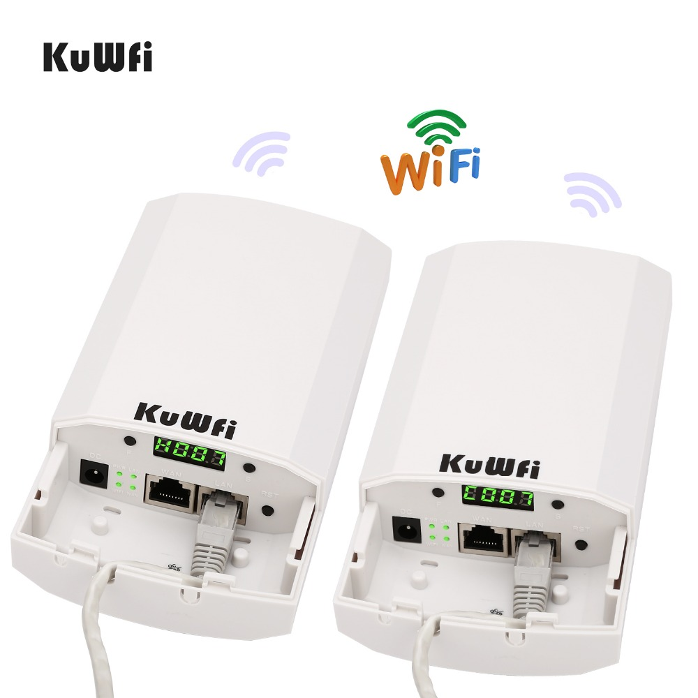 Image 3 - RU Shipping 2 PCS 2.4Ghz 300Mbps 2KM P2P No Setting Wireless Outdoor CPE Router Bridge Access Point Support WDS with LED Display-in Wireless Routers from Computer & Office