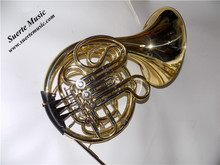 F/Bb French Horn musical instruments 5 Valves French horn Fixed bell with ABS case and mouthpiece 2015 new jazzor 4 key double french horn entry model bb f wind instruments french horns jzfh e310 monel valves with padded box