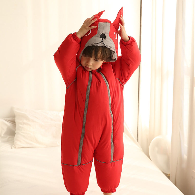 be33b21cc 3d dog romper baby children Body suits infant winter boy girl ...