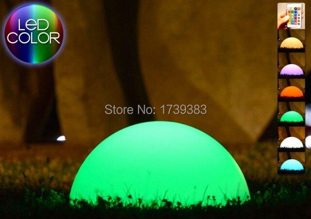 Colorful Half Sphere Light LED Multi waterproof LED glowing semicircle bar/pool table lamp remote control half light ball demi