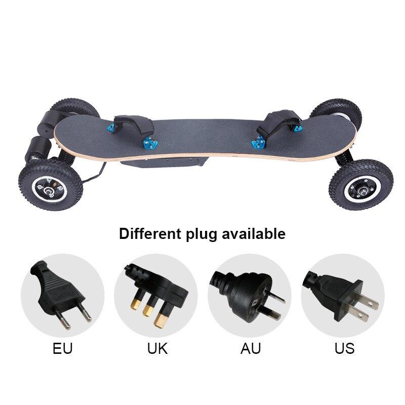 Longboard télécommandé sans fil motorisé par planche à roulettes électrique de 1650 W 18 km/h