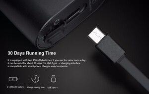 Image 5 - Oryginalny Youpin Mijia Zhibai Home elektryczne maszynki do golenia dla mężczyzn wodoodporny Wet Dry golenie dwupierścieniowy ostrze maszynka do golenia USB nadająca się do wielokrotnego ładowania