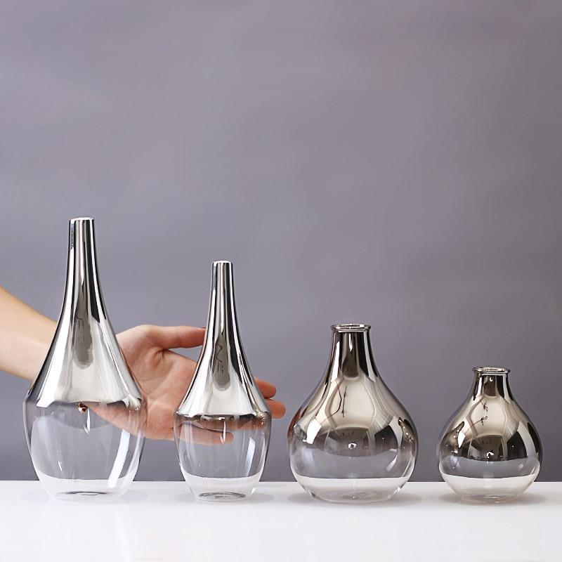Creative Handcraft Glass Vase Desktop transparent Bottle For Flower Plant DIY Terrarium Hydroponic Container wedding Home Decor in Vases from Home Garden