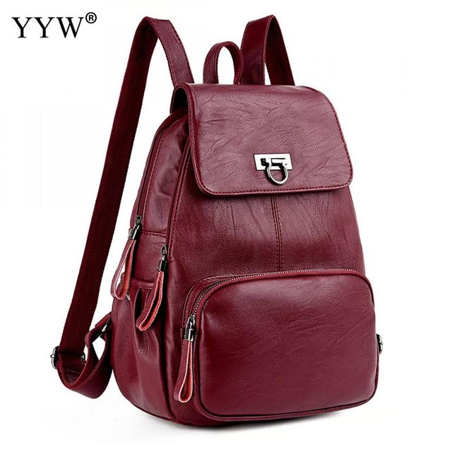 37fa222e2a3 US $29.17 |Women backpack shoulder bag rucksack urban college Pu Leather  Backpacks Top Selling Student Backpacks Girls fashion-in Backpacks from ...