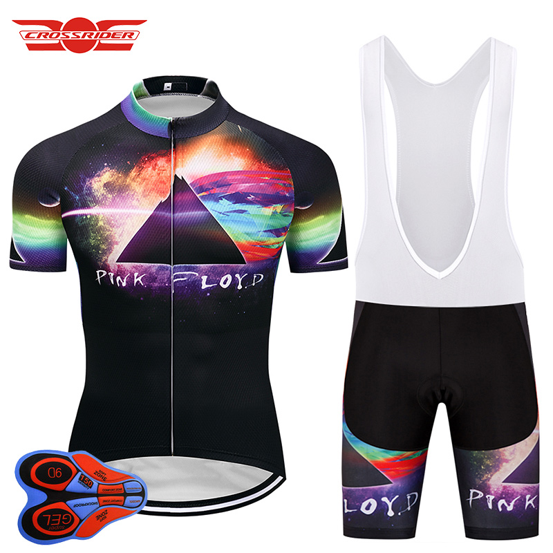 Crossrider Brand 2018 Pink Floyd Men's Short Cycling Jersey Sets Mountain Bike Clothing bicycle wear clothes Maillot Culotte kit triathlon fitness women sports wear shorts kit sets cycling jersey mountain bike clothing for spring jersey padded short page 9