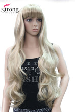 StrongBeauty X Long Layered Wave Blonde Red Full Synthetic Wig Womens Wigs COLOUR CHOICES