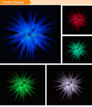 party inflatable hanging stars with led lighting Dia.2.4m lighting decoration Light-Up Toys