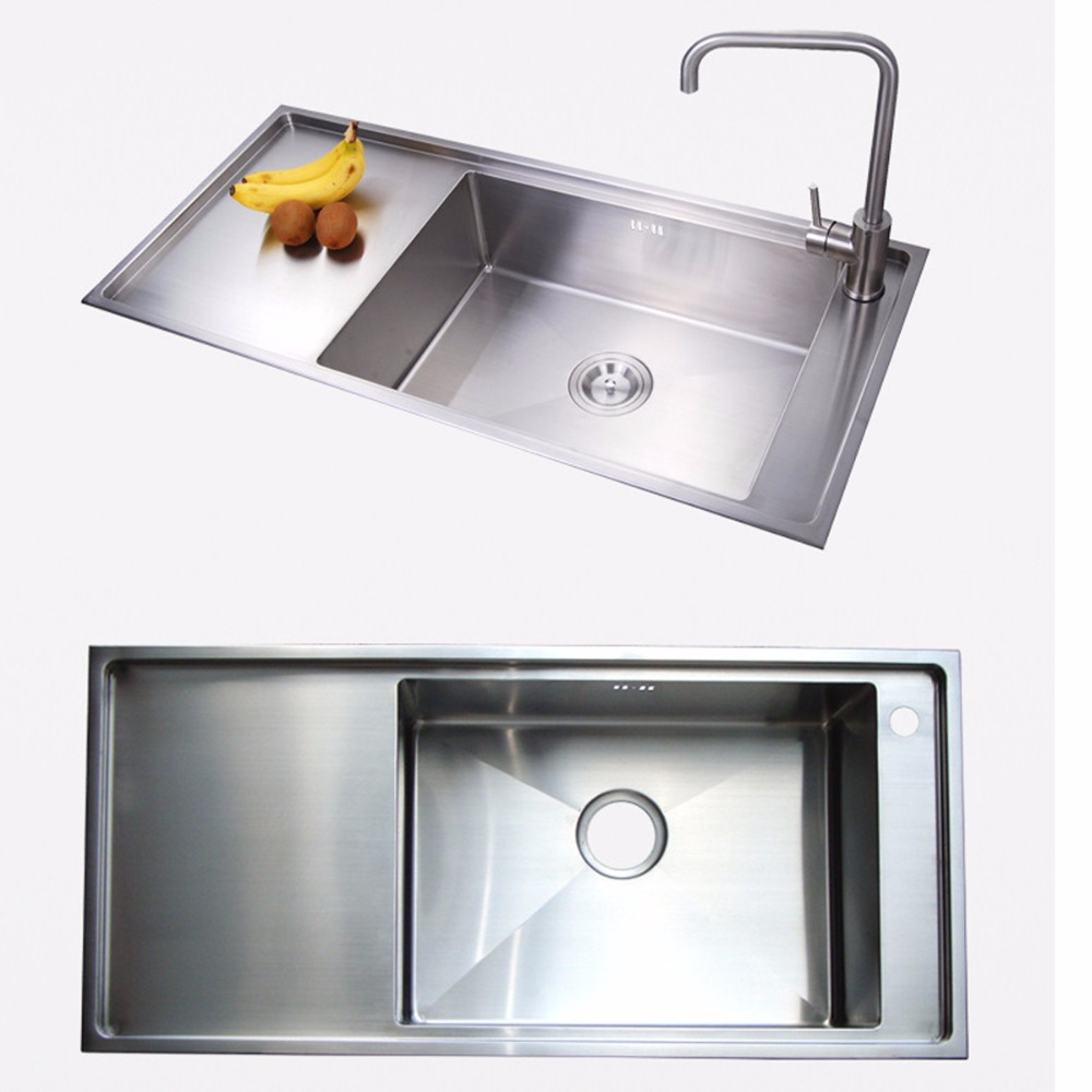Ceramic Kitchen Sinks Reviews Aliexpress buy 1000mm 500mm 220mm stainless steel kitchen aliexpress buy 1000mm 500mm 220mm stainless steel kitchen sink and fuacet thickness12mm x drainage line drainage platform integrated from workwithnaturefo