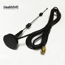 Wifi Antenna 2.4G  7dbi hing  gain   Sucker  antenna 3 meters extension cable SMA MALE connector NEW Wholesale  wifi router