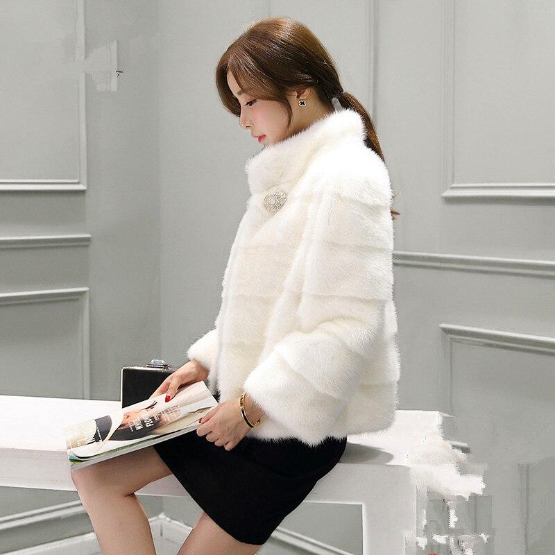 Nouvelle hiver de fourrure de vison vison à court paragraphe vison manteau modèles féminins manteau de vison femelle manteau chaud