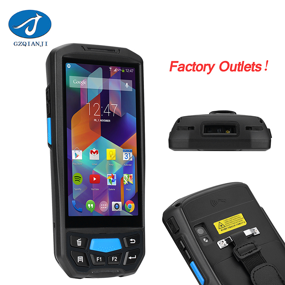 1D 2DAndroid portable handheld pda with thermal Android 5.1 System Taxi Mobile Data Coll ...