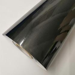 30*200cm 5D 6D Carbon Fiber Car Body Film Glossy Black Car Vinyl Wrap Styling Wrapping Paper for Auto Motor Bike Laptop
